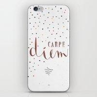 carpe diem iPhone & iPod Skins featuring Carpe Diem by Earthlightened
