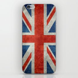 "English Flag ""Union Jack"" bright retro 3:5 Scale iPhone Skin"