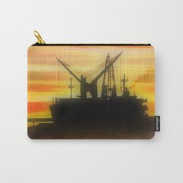 Silhouette of a Ship Carry-All Pouch
