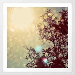 golden sky Art Print