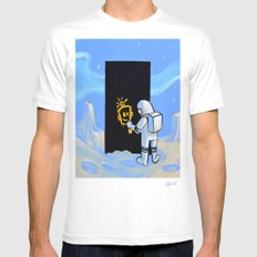 Happy In Space Mens Fitted Tee White MEDIUM