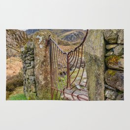 Gate To Tryfan Snowdonia Rug