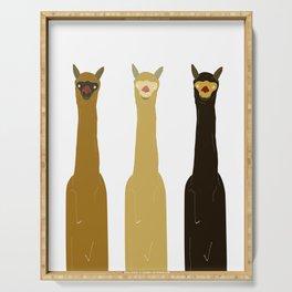 Triple LLAMAS ALPACAS CAMELS Serving Tray