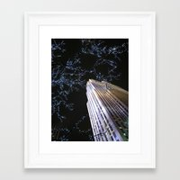 30 rock Framed Art Prints featuring 30 Rock at Night, NYC by Donna Rocco Photography