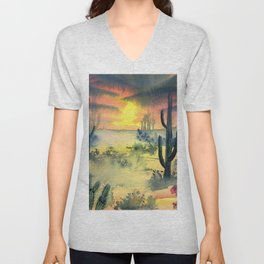 Desert Twilight Unisex V-Neck