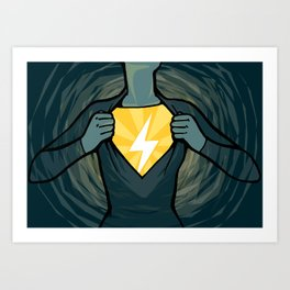 Not-so-secret Identity Art Print