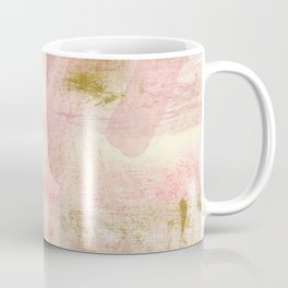 Rustic Gold and Pink Abstract Coffee Mug