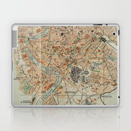 Vintage Map of Rome Italy (1911) Laptop & iPad Skin