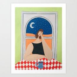 Low Self-Esteem & Caffiene Art Print