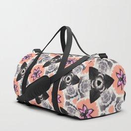 Handmade Pink and Black Kaleidoscope Pattern Duffle Bag