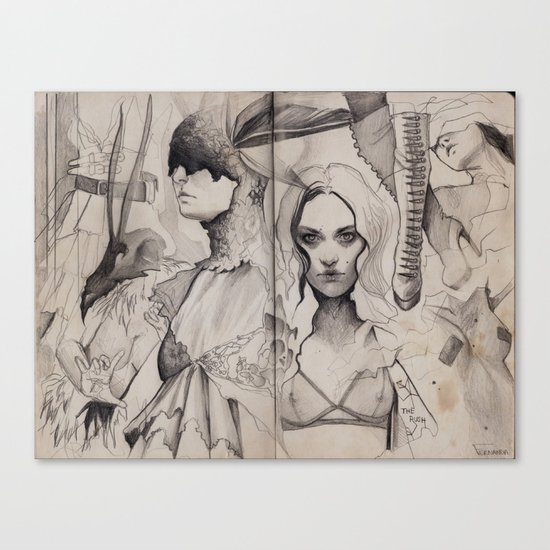 the rush Canvas Print