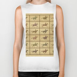 Time Lapse Motion Study Horse muted Biker Tank