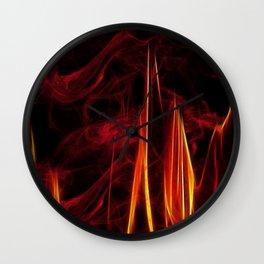 Feuer und Qualm Wall Clock