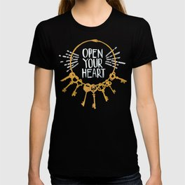 Open Heart - Dark Background T-shirt