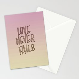 Love Never Fails - Gradient Stationery Cards