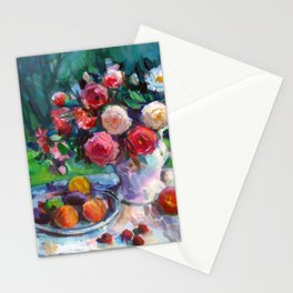 Fruits & Rose Flowers Stationery Cards