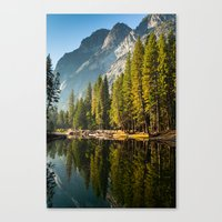 yosemite Canvas Prints featuring Yosemite by Stephen Yao
