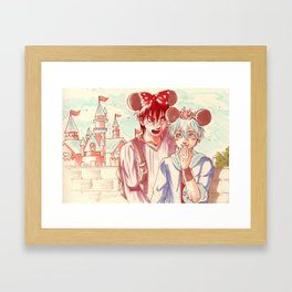 At the amusement park!  Framed Art Print