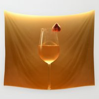 blush Wall Tapestries featuring blush by gzm_guvenc