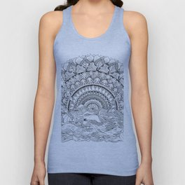Spaghetti Sunrise Unisex Tank Top