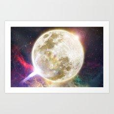 Lunar Disturbance  Art Print