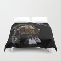 sci fi Duvet Covers featuring Steampunk Sci-Fi  by gypsykissphotography