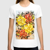 batik T-shirts featuring BATIK FLOWERS  by Acus