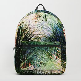 Modern palm leaves tropical abstract design Backpack