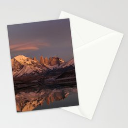 Sunrise at the Sarmiento Lake | Torres del Paine National Park, Patagonia Stationery Cards