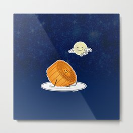 Mid Autumn Festival Moon cake lunar mooncakes pastry Metal Print