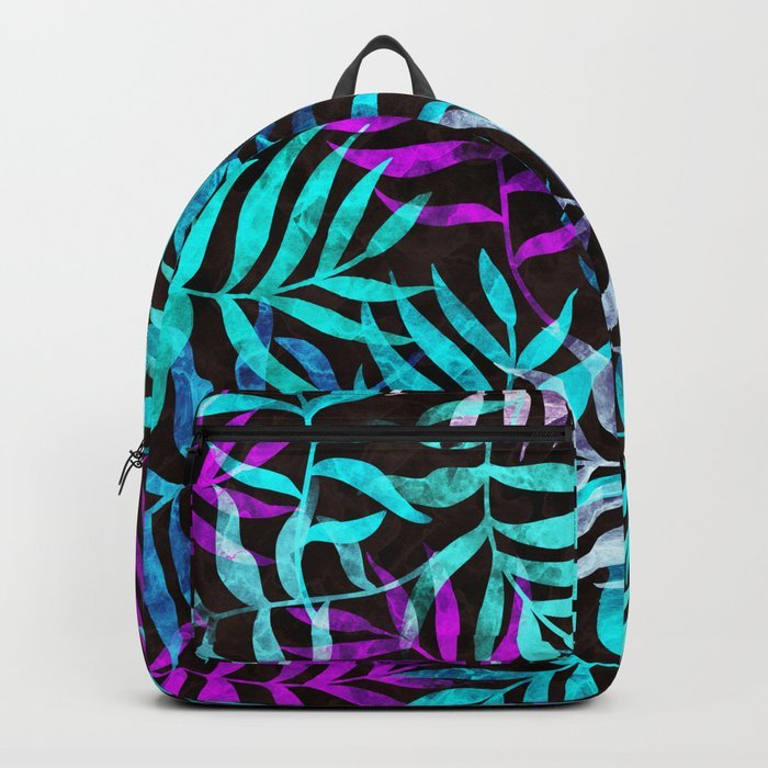Watercolor Tropical Palm Leaves III Backpack