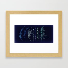 Winter Grass Framed Art Print