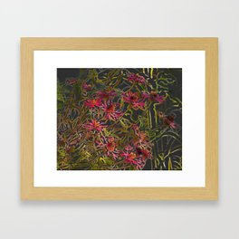 Zinnia Pink Abstract by CheyAnne Sexton Framed Art Print