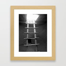 Down in the Kiva BW Framed Art Print
