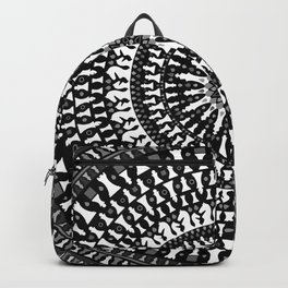Chess Pieces Mandala - Grayscale Backpack