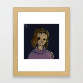 Backlight Character Portrait Framed Art Print
