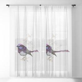 Forest Wren Bird Sheer Curtain