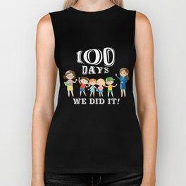 Teacher's Day T-Shirt Gifts 100th Day Of School Student Gift Biker Tank