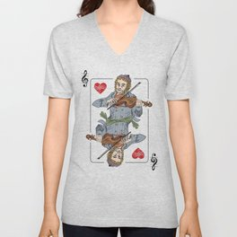 Fiddler poker Unisex V-Neck