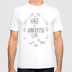 wonderful day White MEDIUM Mens Fitted Tee
