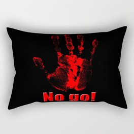 No Go! Rectangular Pillow