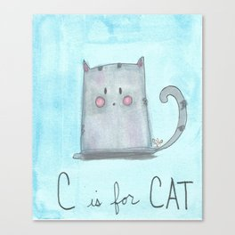 C is for Cat Canvas Print