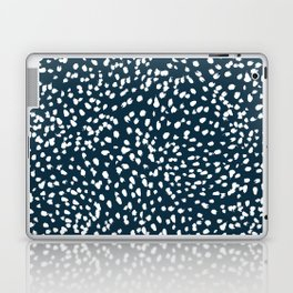 Navy Dots abstract minimal print design pattern brushstrokes painterly painting love boho urban chic Laptop & iPad Skin