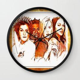 Red, Crazy, Piper, Alex Wall Clock