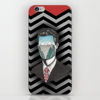 dale cooper iPhone & iPod Skins featuring Agent Dale Cooper by Ryan M Whiteley