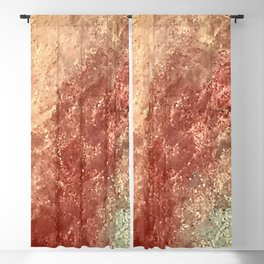 Crystallized Copper Trails Blackout Curtain