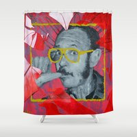terry fan Shower Curtains featuring Terry by Dmitry  Buldakov