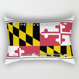 Maryland License Plate Flag Rectangular Pillow