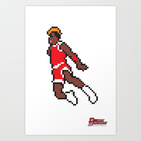 Air Pixel Art Print
