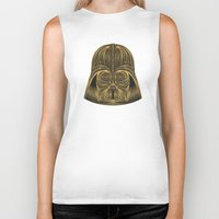 darth vader Biker Tanks featuring Darth Vader by Nathan Owens